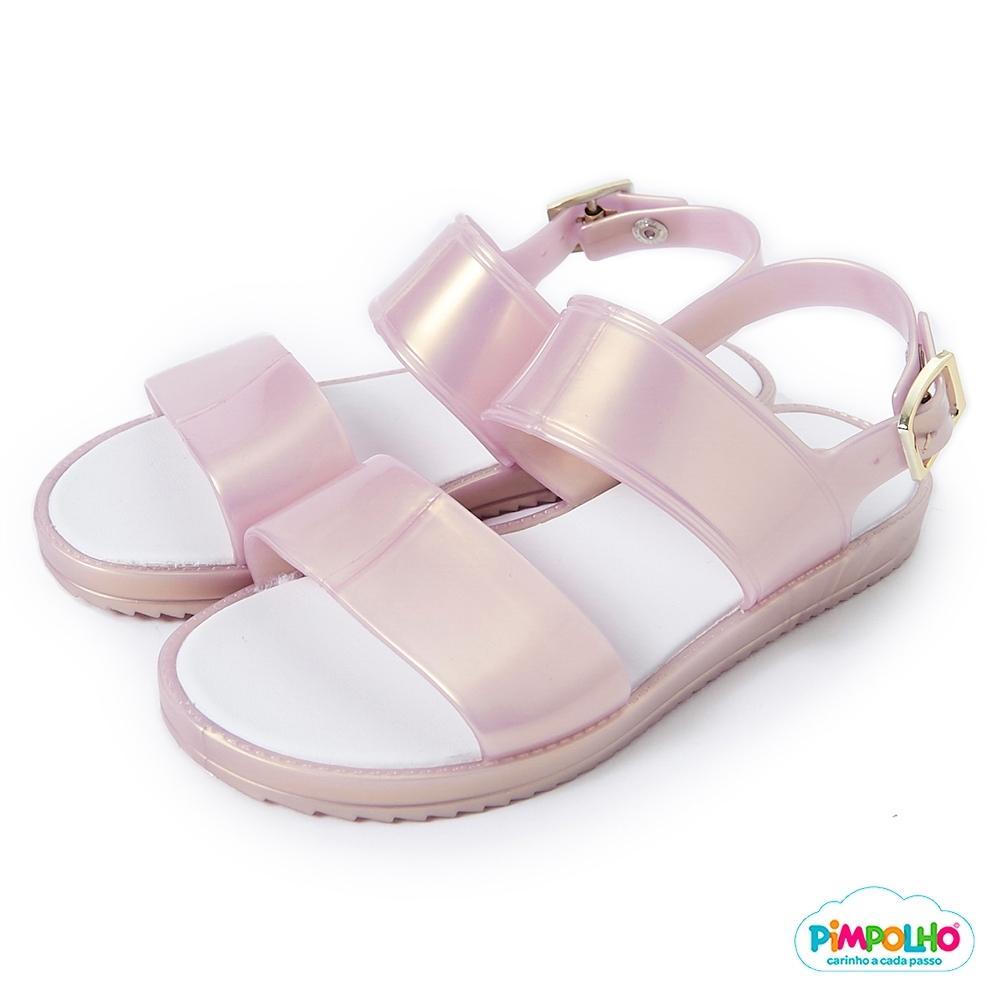 Pimpolho 果凍休閒涼鞋-童-珠光粉