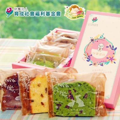 愛天然-育成公益‧母親節磅蛋糕綜合禮盒