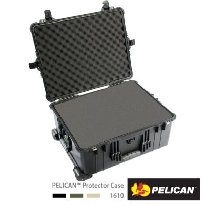 美國 PELICAN 1610 輪座拉桿氣密箱-含泡棉(黑)