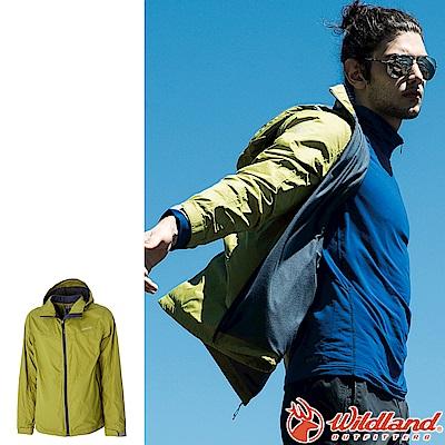 Wildland 荒野 0A52908-39芥末綠 男輕量天鵝絨防風保暖外套