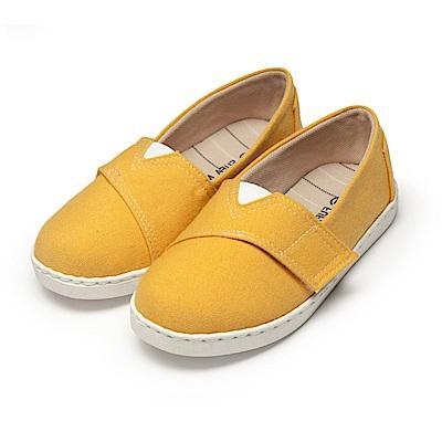 BuyGlasses 可愛魔鬼氈兒童休閒鞋-黃