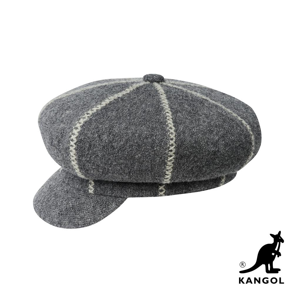 KANGOL-波士頓報童帽-天空灰色
