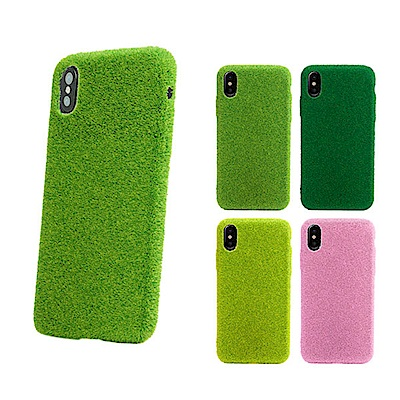 Shibaful iPhone X 5.8吋 公園 草皮硬殼