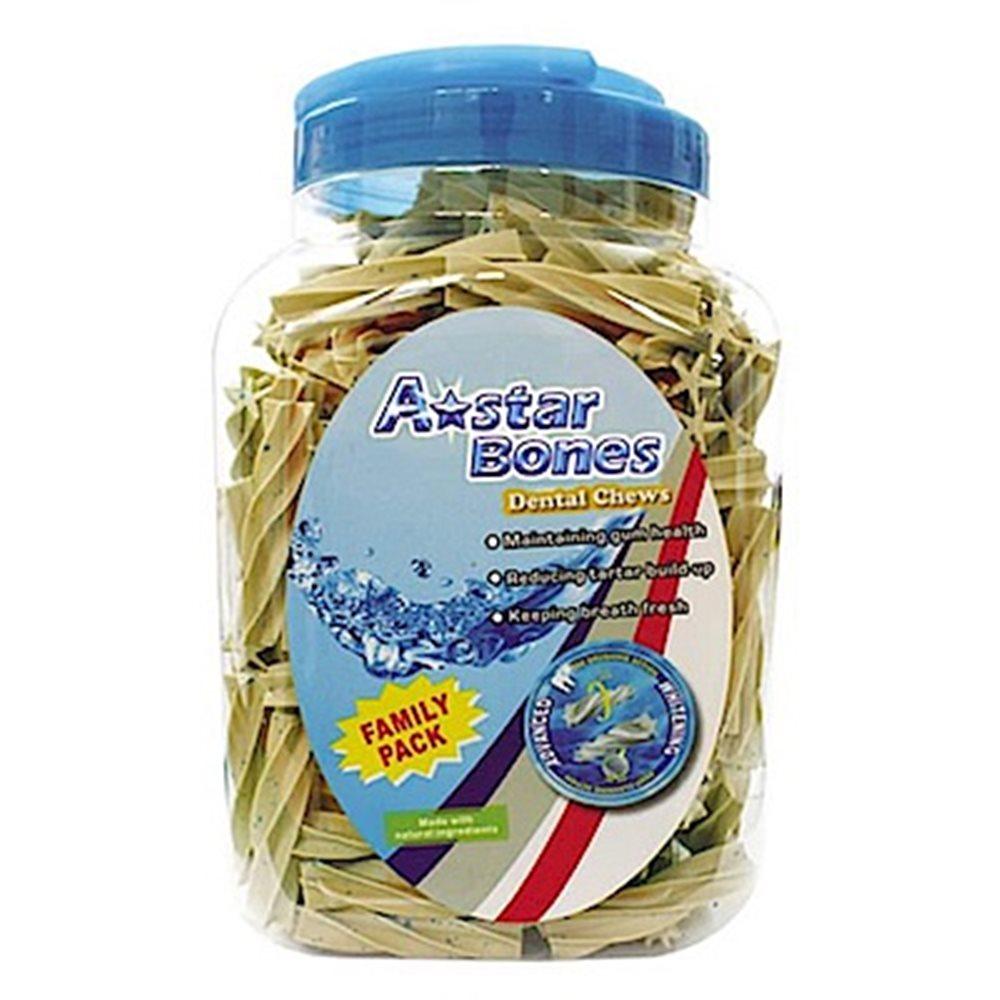 【A☆Star-Bones】A☆Star《亮白螺旋五星棒》潔牙骨 2000g 超大桶裝