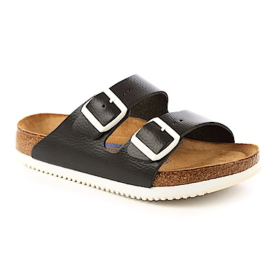 勃肯BIRKENSTOCK 230154亞利桑那經典二條拖鞋(黑)