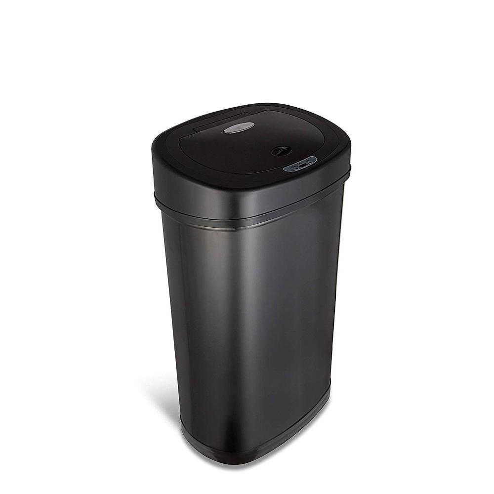 美國NINESTARS 時尚不袗感應垃圾桶50L  (廚衛系列)尊爵黑
