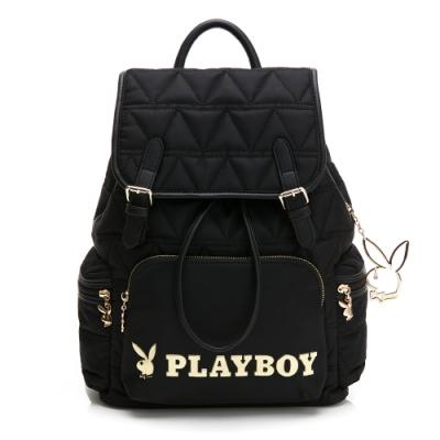 PLAYBOY-  大後背包 金典小兔系列 -黑色