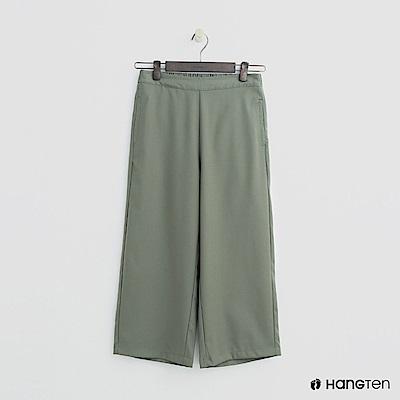 Hang Ten - 女裝 - 簡素面後鬆緊寬褲 - 綠