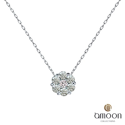 amoon 永恆回憶系列 花舞 鉑金鑽石項鍊