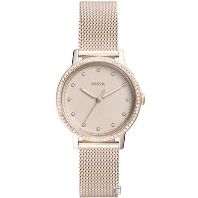 FOSSIL NEELY 華麗粉紅晶鑽女錶(ES4364)34mm