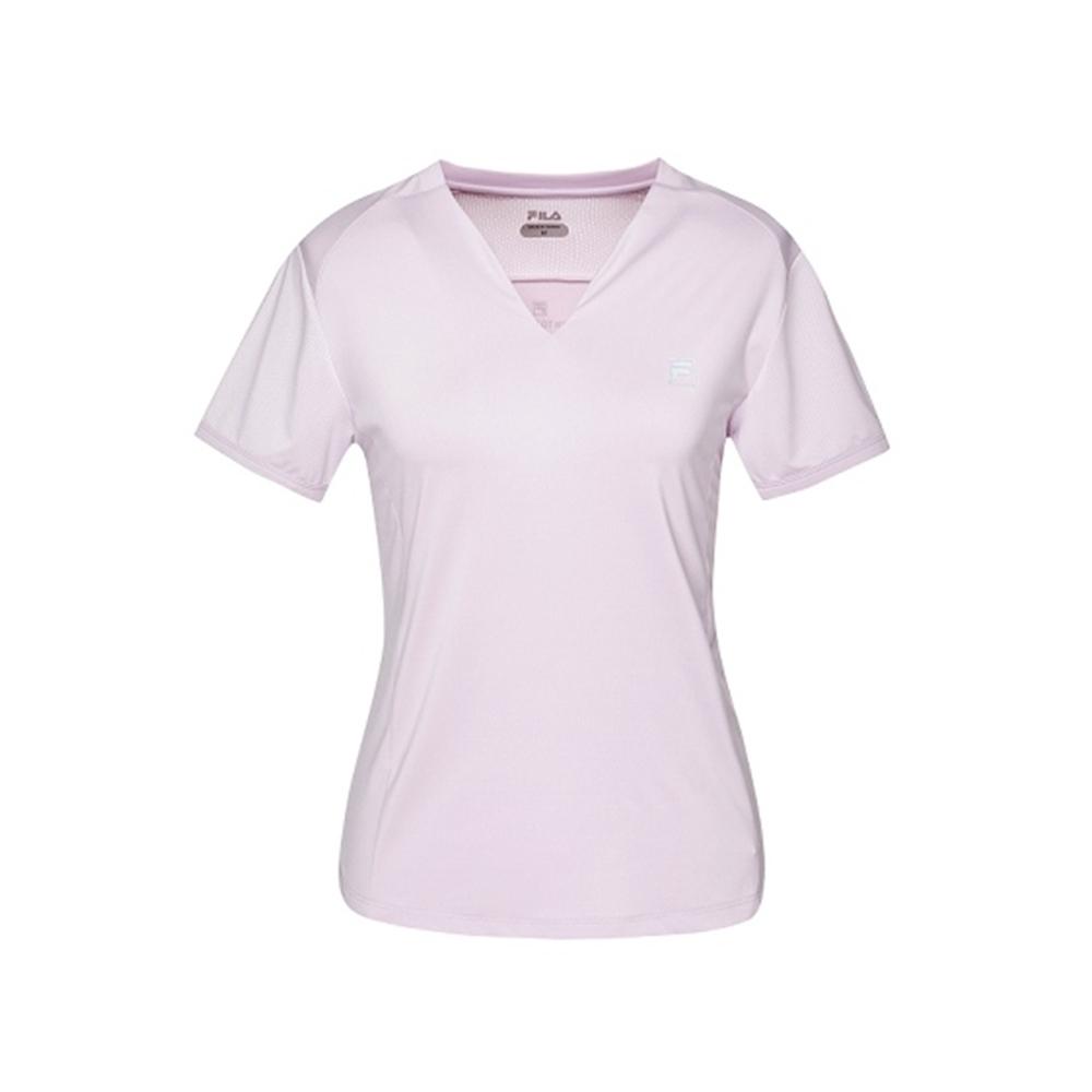 FILA 女抗UV吸濕排汗T恤-粉紫 5TEV-1314-PL