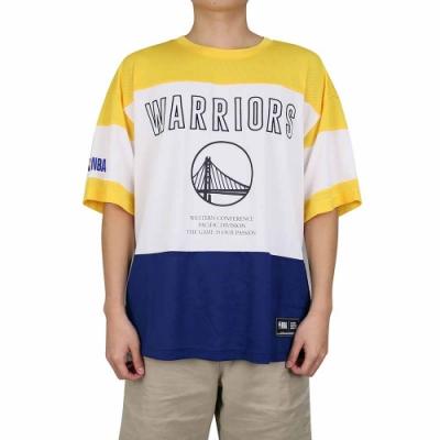 NBA Style C S T-SHIRTS 網眼拼接 短袖上衣 勇士隊