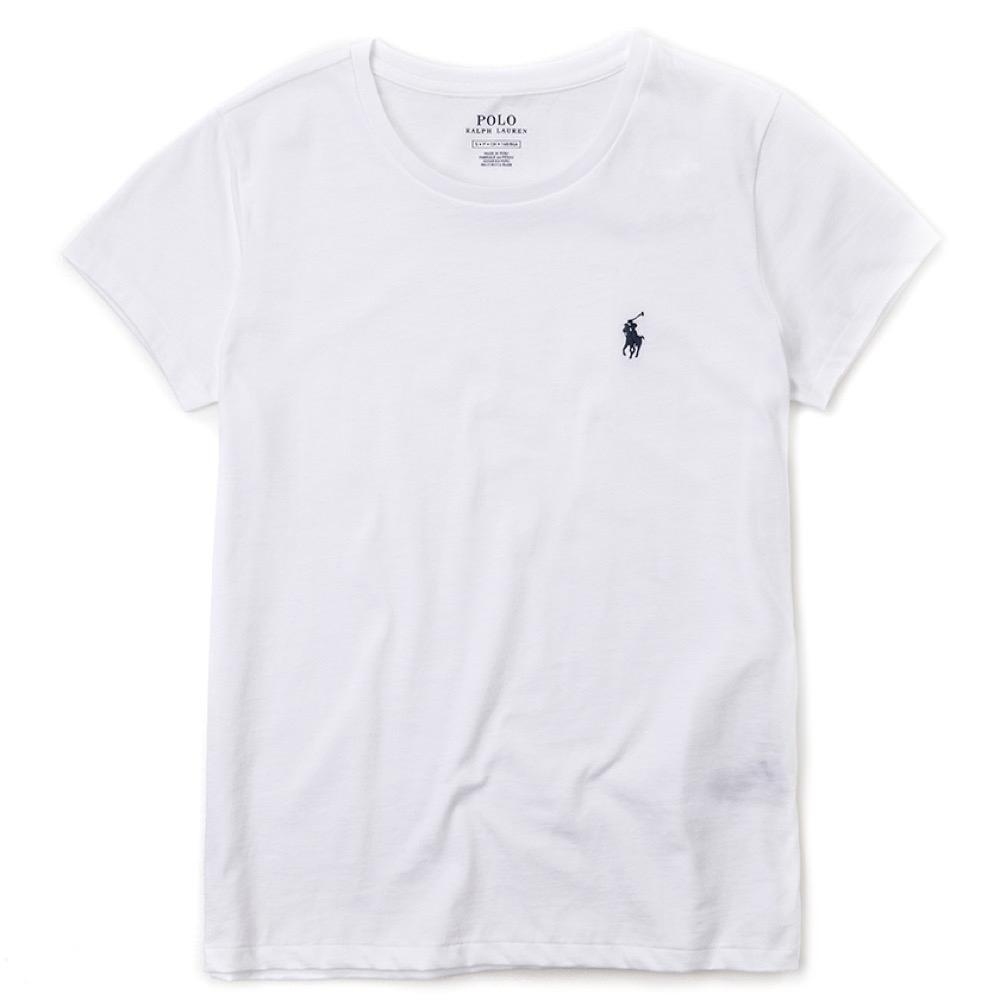 Polo Ralph Lauren 經典小馬素面短袖T恤(女)-白色