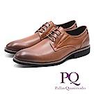 PQ 菱格質感車線輕量皮鞋 - 棕(另有黑)