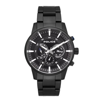 POLICE 潮流騎士多功能手錶-黑色(15523JSB-02M)-48mm