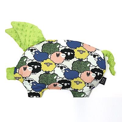 La Millou 豆豆小豬枕嬰兒枕安撫玩具- 朵朵綿羊糖(香草綠薄荷)