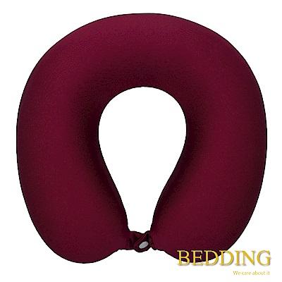 BEDDING 科技記憶棉舒壓U型頸枕-紅色