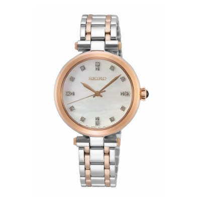 SEIKO 氣質點鑽優雅雙色腕錶7N01-0KT0KS(SRZ534P1)