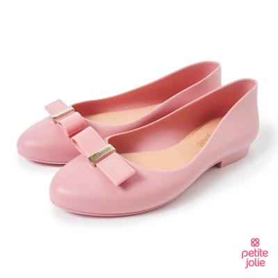Petite Jolie-可愛小結飾果凍娃娃鞋-粉紅