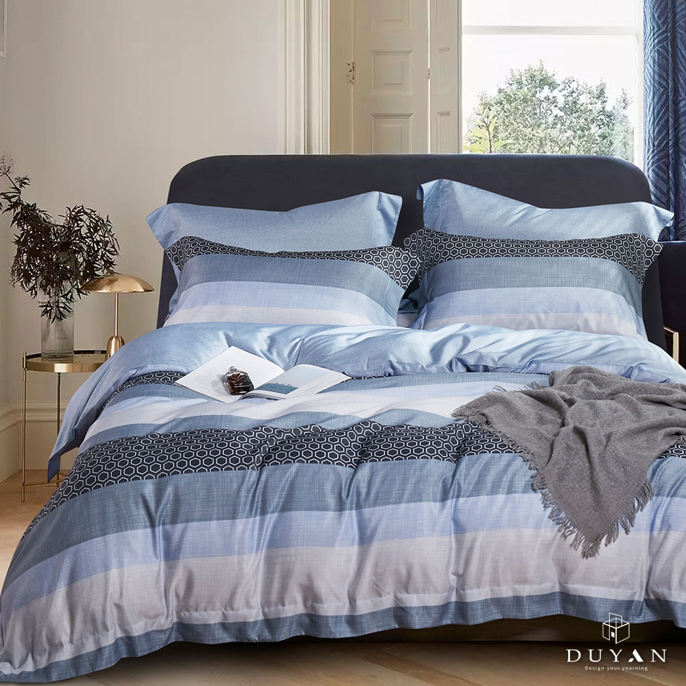 (均一價)DUYAN竹漾-3M吸濕排汗奧地利天絲-單/雙/大床包枕套組-多款任選 台灣製 (微風海岸)