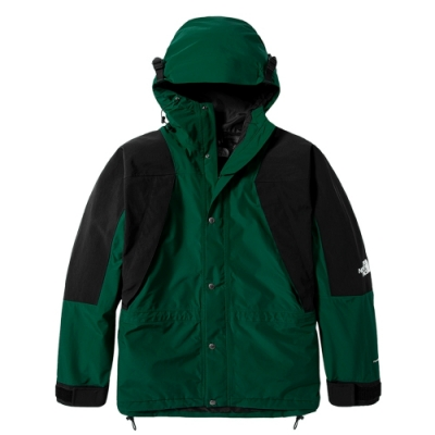 The North Face 經典ICON 男女防水透氣連帽衝鋒衣 綠- NF0A4R52NL1