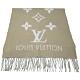LV M70462 REYKJAVI系列Monogram花紋喀什米爾羊毛圍巾(灰樹色) product thumbnail 1