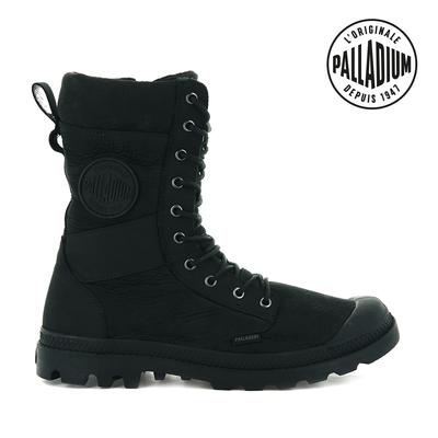 PALLADIUM TACTICAL OFF LTH WP皮革防水靴-中性-黑