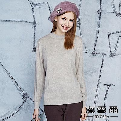 【麥雪爾】羊毛簡約羅纹素面百搭針織-駝色