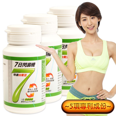 Minibody纖活 7日閃澱機3瓶((30錠/瓶)