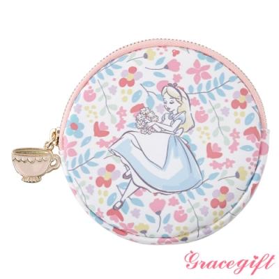Disney collection by Gracegift愛麗絲可愛圖案圓形零錢包
