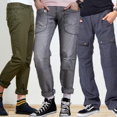 [時時樂限定]BLUE WAY 率性工作褲自由選_3款選