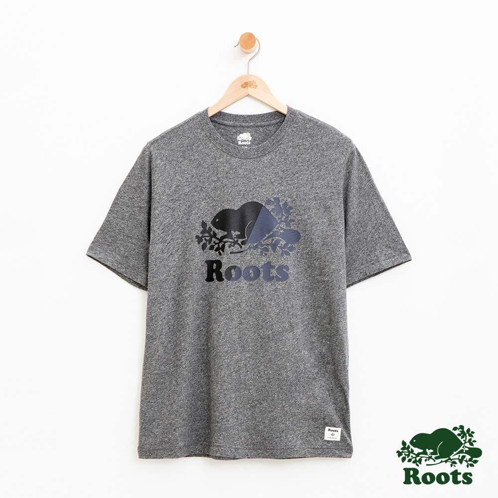 男裝Roots 雙色庫柏海狸短袖T恤-灰