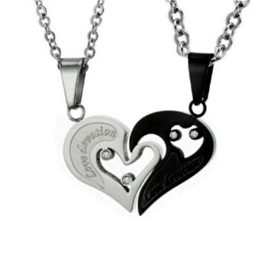 【I.Dear Jewelry】心有靈犀-西德鋼-情侶鈦鋼項鍊AB019