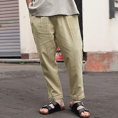 混紡棉麻寬褲(5色) ZIP日本男裝