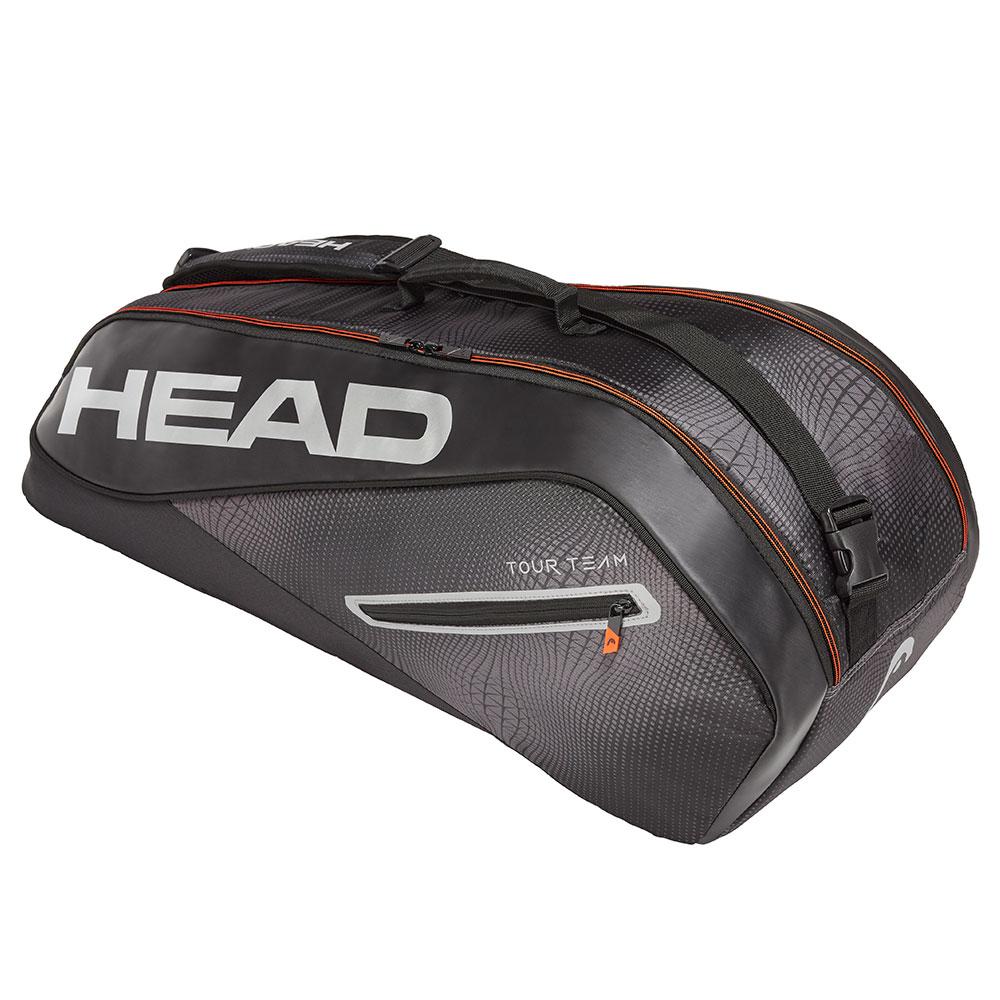 HEAD奧地利 Tour Team系列 6支裝球拍袋-黑銀 283129
