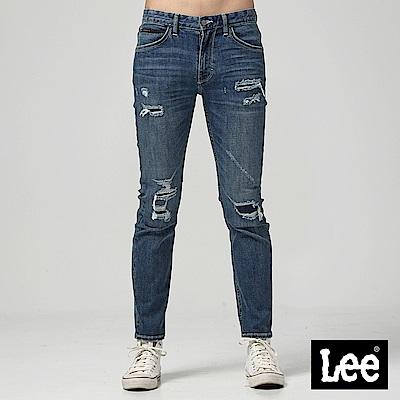 Lee 低腰修身直筒牛仔褲-中藍