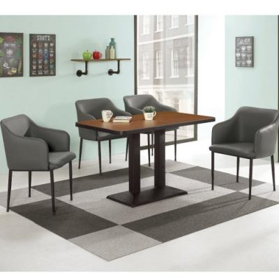 MUNA 曼特爾3.5尺商業桌(1桌4椅)柯諾德皮餐椅 105X60X75cm