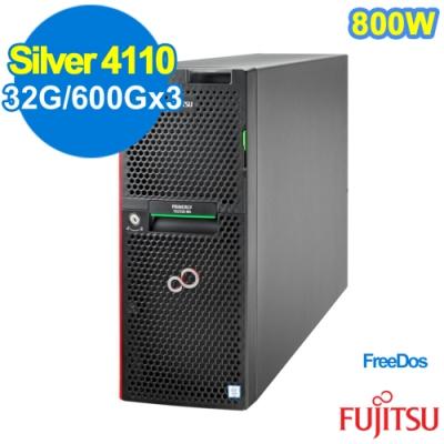 FUJITSU TX2550 M4 Silver 4110/32G/600Gx3/FD