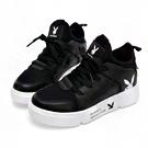 PLAYBOY 率性網布拼接休閒鞋-黑 Y5278CC