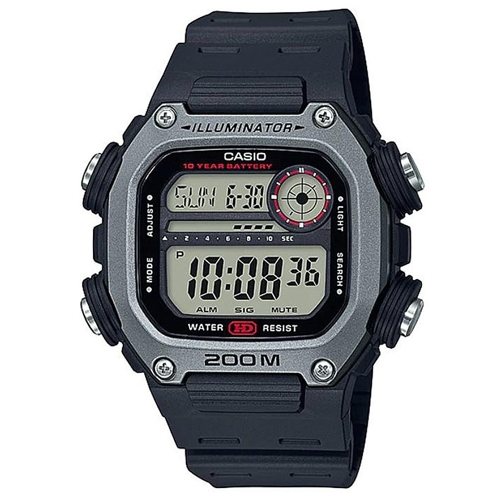 CASIO卡西歐 粗曠運動風格電子錶(DW-291H-1A)