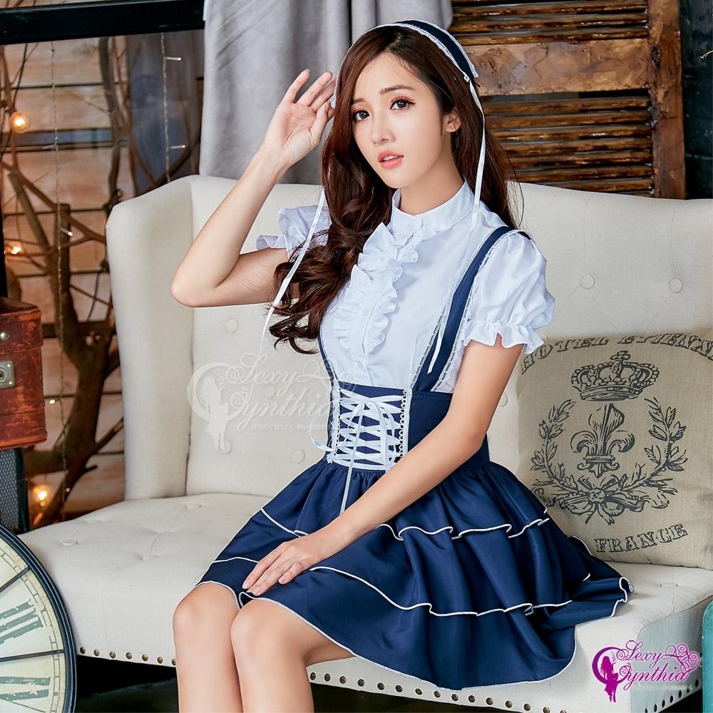 Sexy Cynthia 角色扮演 可愛蘿莉公主風三件式女僕角色服-藍F