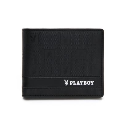 PLAYBOY- 中翻短夾可拆式 黑暗騎士upgrade系列 -黑色