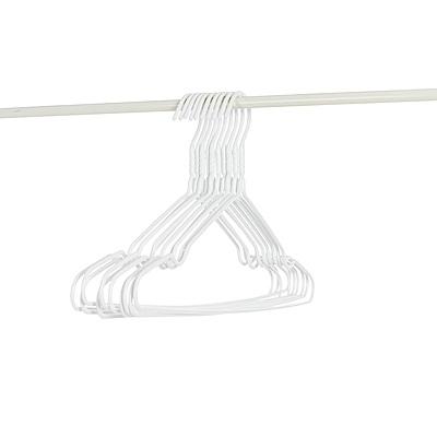 樂嫚妮 10入全浸塑防鏽防滑三角衣架-白
