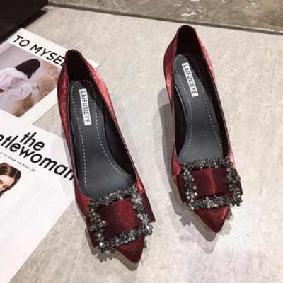 KEITH-WILL時尚鞋館 舒適自在優雅淑女細跟鞋-酒紅