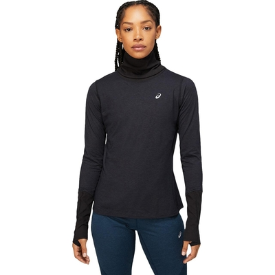 ASICS 亞瑟士 女 羊毛長袖上衣 女 跑步服 長袖上衣  2012C035-003