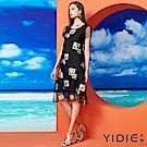 【YIDIE衣蝶】花鳥刺繡鏤空網紗短洋裝