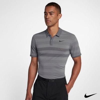 Nike 男 運動機能條紋POLO衫 灰 932210-036