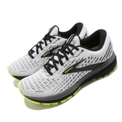Brooks 慢跑鞋 Ghost 13 運動 反光 男鞋 路跑 緩震 DNA科技 透氣 健身 球鞋 白 黑 1103481D129