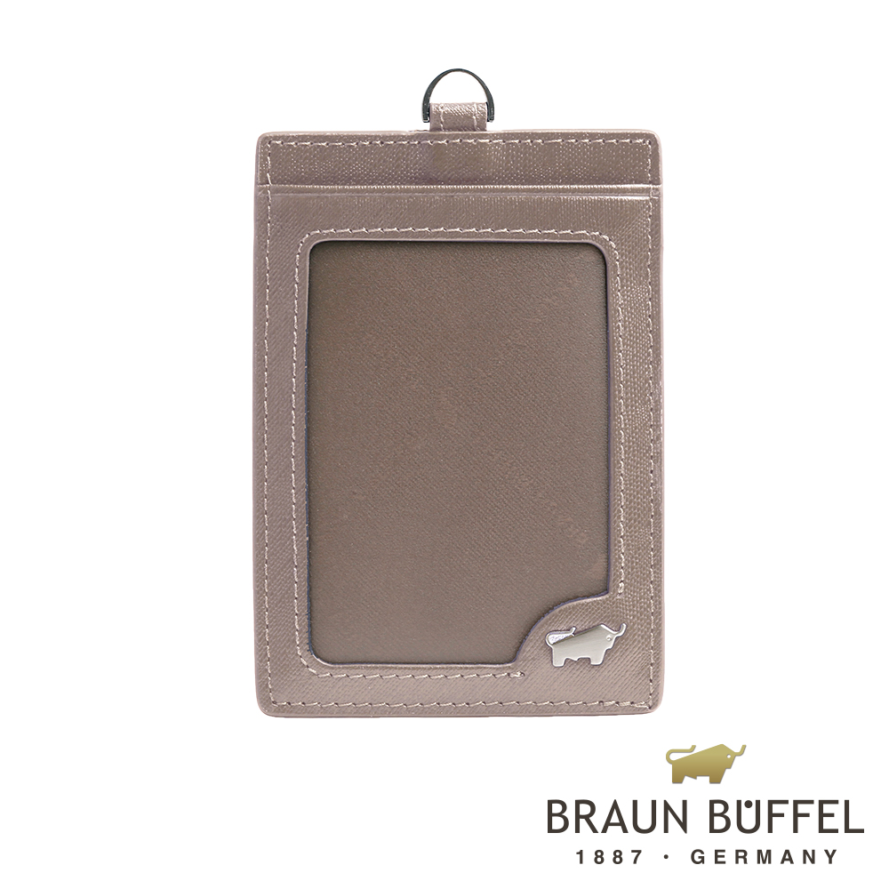 BRAUN BUFFEL - HOMME-M系列壓紋證件套 - 卡其