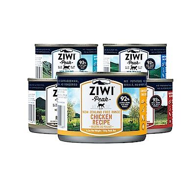 ZiwiPeak巔峰 92%鮮肉貓罐*五口味混搭 185g*(一箱12罐)